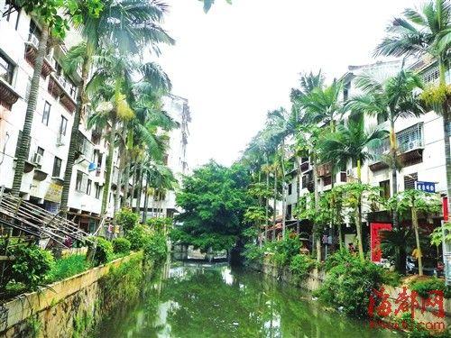 旧城改造后的宫口河两岸新楼林立,却少了水乡韵味