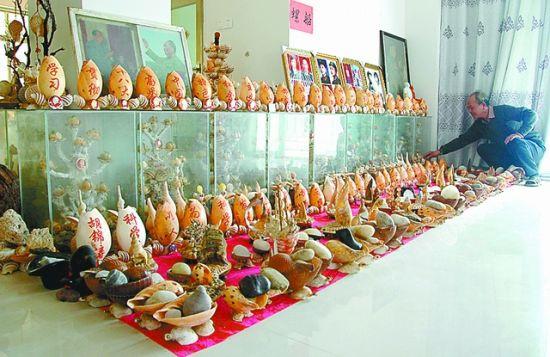 南日岛七旬老人自办 海洋世界 贝类展览馆图片