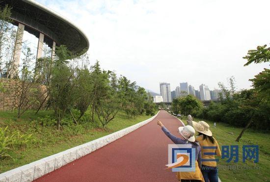 三明城市文化广场江滨公园基本完工