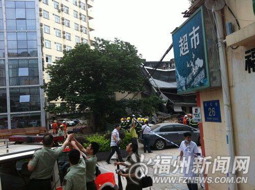 一所在建楼房突然倒塌