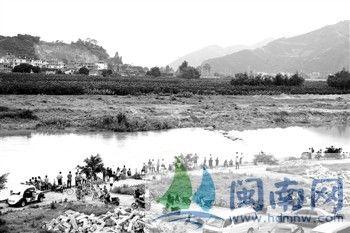 事发地点,九龙江花山溪流域,距离平和一中大约1公里