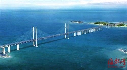平潭海峡公铁两用大桥效果图