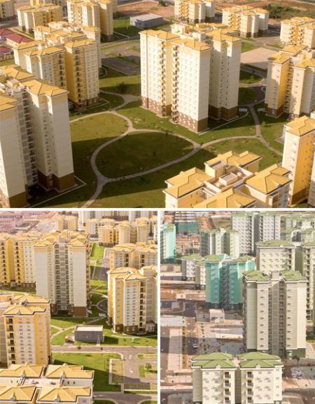安哥拉凯兰巴中国人建造的无人住宅区
