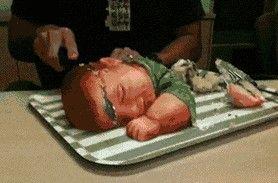 让人毛骨悚然的婴儿蛋糕