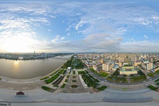 外国游客拍摄罕见朝鲜全景图
