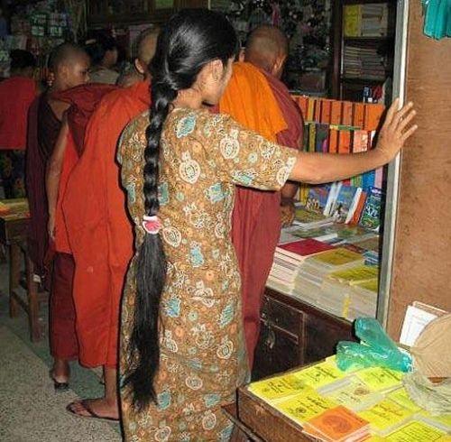 缅甸小偷不偷钱财就爱偷女人长发