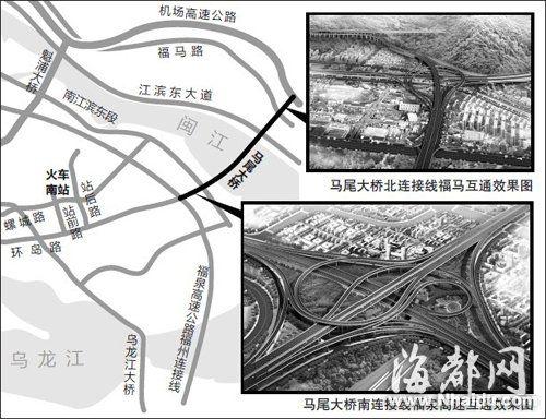 马尾大桥将连接仓山马尾 郑蒙/制图