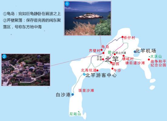 马祖-北竿岛景点地图