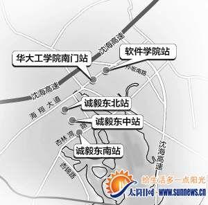 智能公交站牌分布图 黄劲超 制图