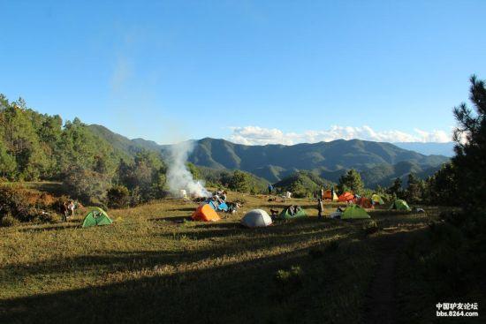 第一天宿营的五星营地