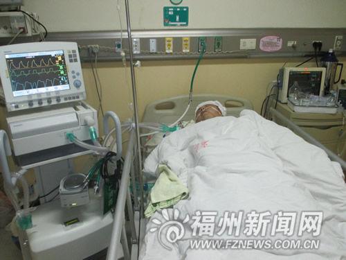 陈民飞还住在重症监护室