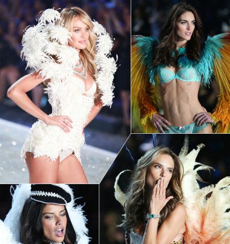 """被誉为""""时尚界春晚""""的维多利亚的秘密时尚内衣秀除了美轮美奂的漂亮内衣、华丽翅膀之外,天使超模也是一大看点之一"""