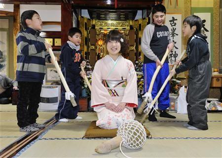 日本新年传统习俗很奇葩正月要打新娘屁股