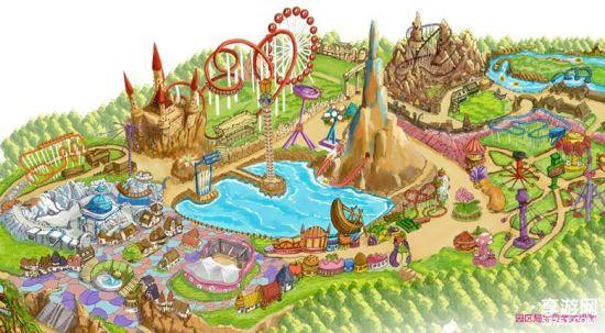 贵安欢乐世界是海西最大现代高科技主题乐园