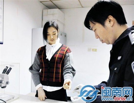 许玲莉昨日在丰泽公安采集血样,备验DNA