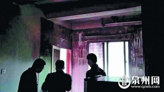 事发当晚套房主卧室失火,救火时大家都没有发现小唐的身影。(市民庄先生/供图)
