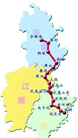 合福铁路客运专线示意图