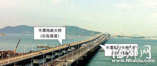 复桥通车后,进出平潭岛将有双向六车道