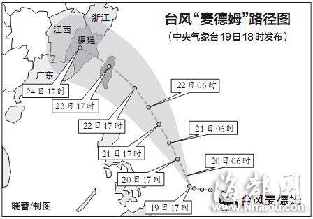 台风麦德姆路径图