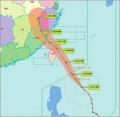 台风路径图,由省气象台提供