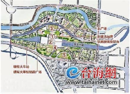 ▲龙岩火车站初步规划图