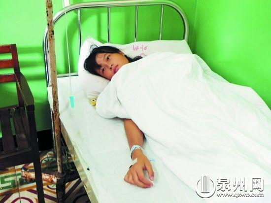 张敏娜还在医院接受治疗