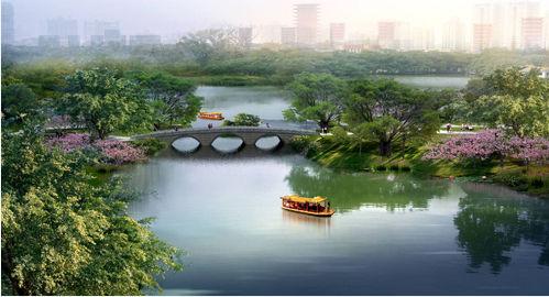拱桥风景手绘效果图