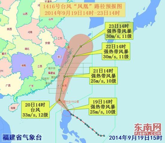 """台风""""凤凰""""路径预报图"""