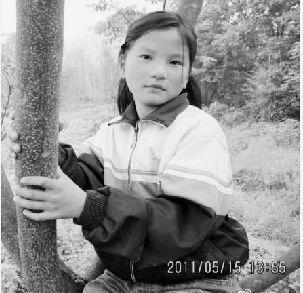 女孩张苏甜生前很可爱。