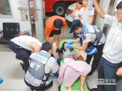台南市萧姓女学生被前男友刺伤后,紧急送医急救,脱离险境。(来源:台湾《中国时报》)