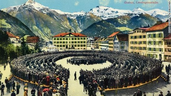格拉鲁斯(瑞士):费勒的明信片大多描绘故乡周围的一些场景。