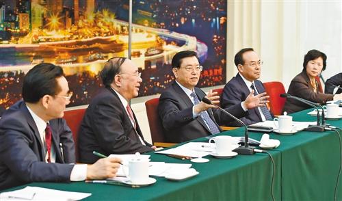 张德江参加重庆代表团审议