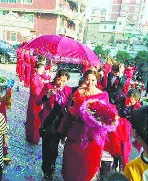 婚礼现场。(来自网络)