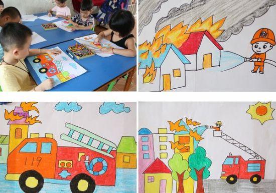 幼儿园等2000余幅消防主题的绘画作品和1500
