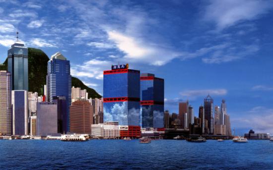 位于香港维多利亚湾的招商局总部大厦