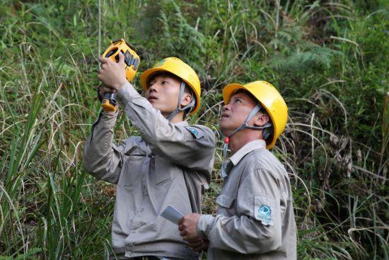 图为:7月12日,该公司运检部巡视人员正在对10千伏西南县进行巡视测温检查(江丽霞)