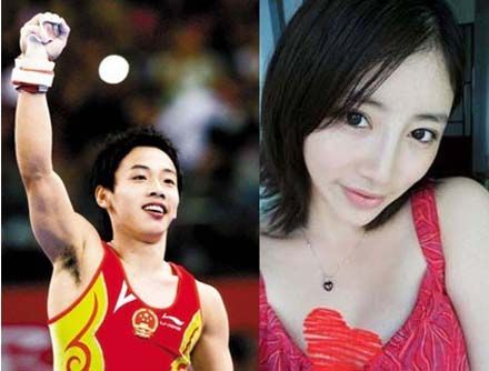 组图:体操王子邹凯女友私房照比林志玲还漂亮