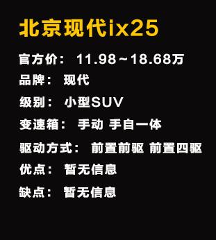 动感的造型 厦门到店实拍北京现代ix25