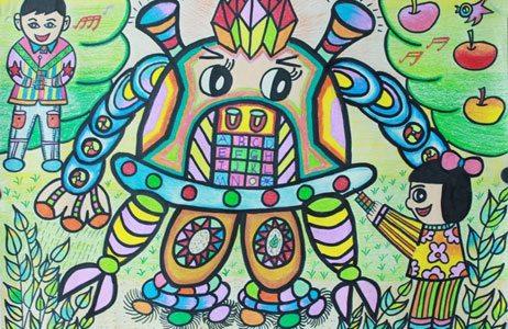 """""""漫游未来""""少年儿童作文绘画大赛获奖名单; 中学生画画_画画大全;"""