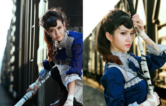 福州人像:美女剑客英姿飒爽(图)