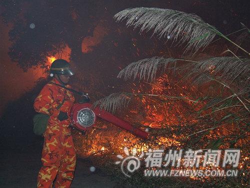 消防人员用滚风机灭火