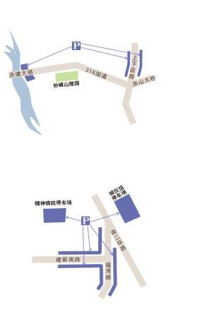福州殡仪馆周边停车示意图
