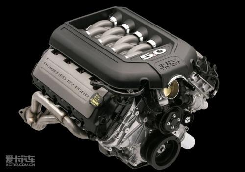 【福特野马搭载的5.0升v8发动机】图片