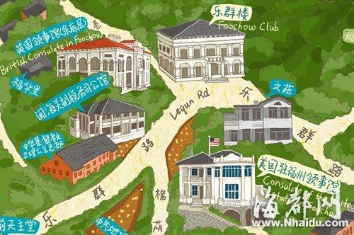 台湾学子手绘地图