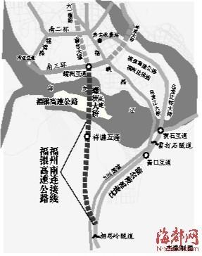 福州南连接线建成昨通车试运营(图)