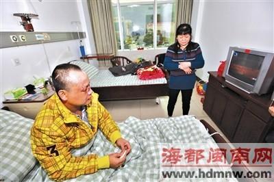 泉港的庄先生正在解放军第180医院治疗