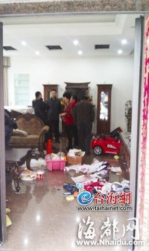 林惟志海沧的别墅被债主们搜得一片狼藉