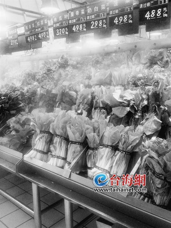 超市常用胶带捆绑蔬菜 专家称长期食用或有害