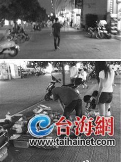 很像学生的一男子,夜间常游荡在漳州高校学生街