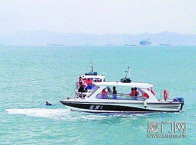 游客乘游船跳海称要去台湾打工
